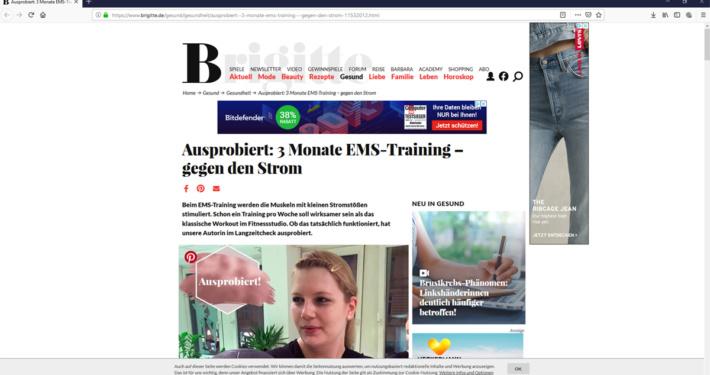 Brigitte.de testet EMS-Training drei Monate lang!